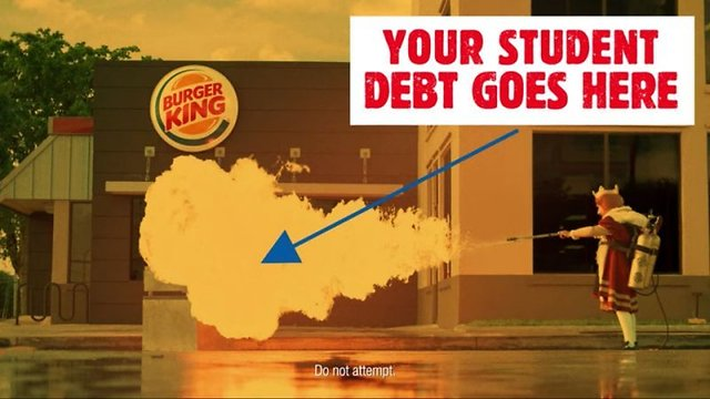 Burger King Wants to Help Customers Pay Off their Student Loans